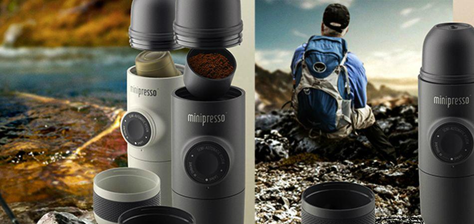 Máquina de café portátil permite fazer espresso em qualquer lugar 1