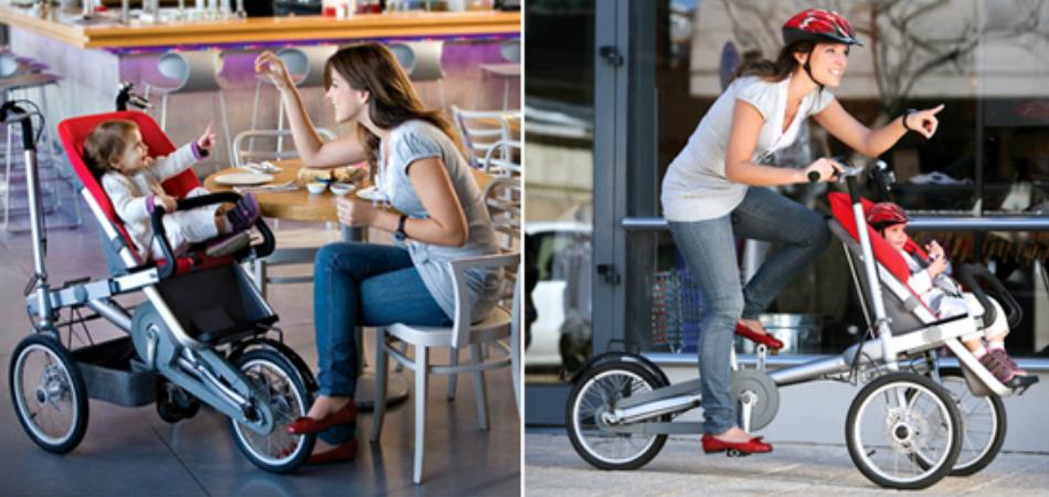 Este carrinho de bebê se transforma em bike de passeio em apenas 20 segundos 2