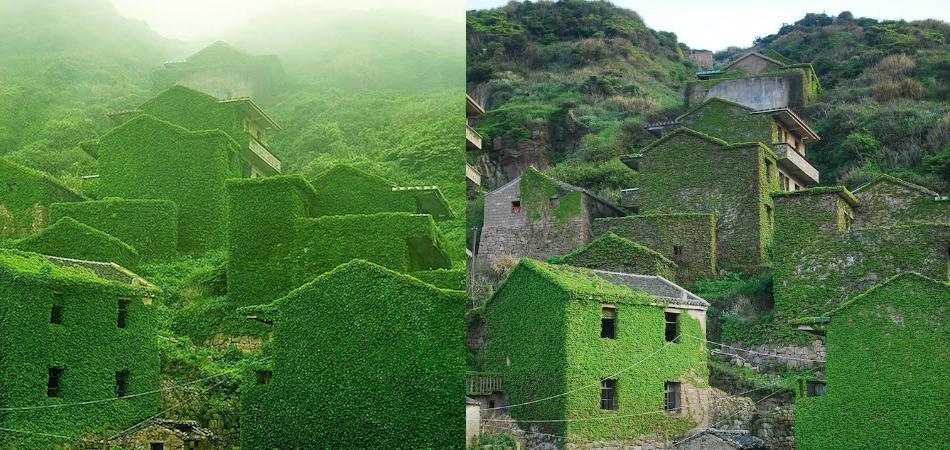 Aldeia de pescadores abandonada na China é tomada (de volta) pela natureza 1