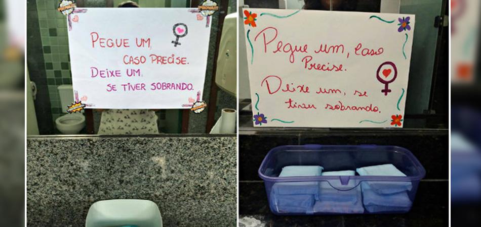 Aluna cria rede de doação de absorventes dentro dos banheiros da UFPE 3