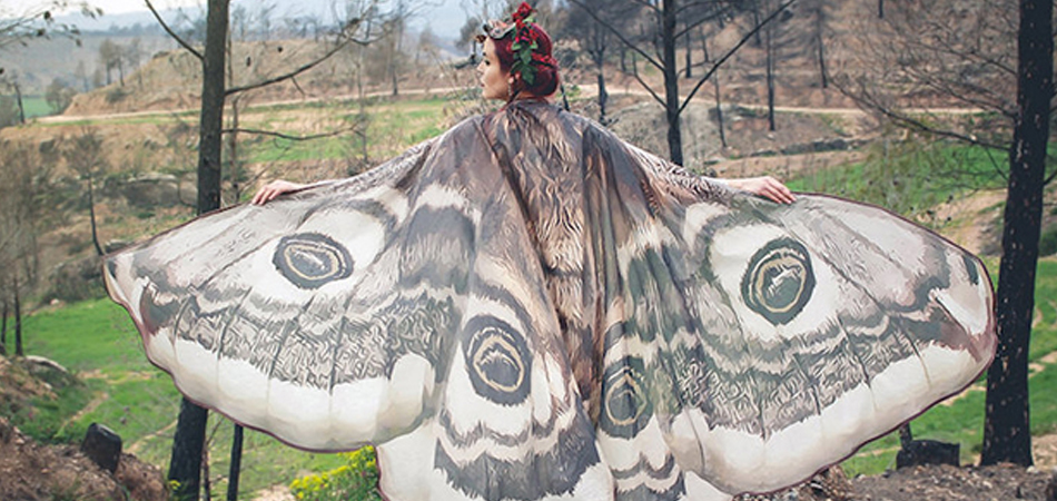 Marca espanhola cria estampas de lenços inspirados nas belíssimas asas das borboletas 2