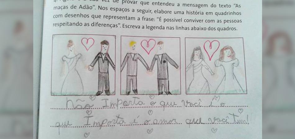 Aos 9 anos, menina dá lição de tolerância em tarefa de ensino religioso 2