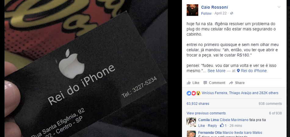 Relato sobre gesto de honestidade de comerciante em SP viraliza nas redes sociais 4
