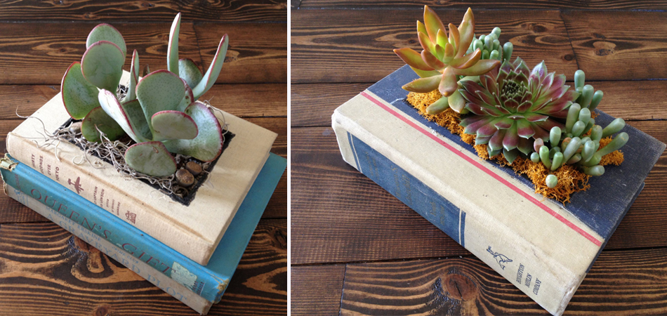 """Livros antigos são transformados em lindos """"vasos"""" para flores 5"""
