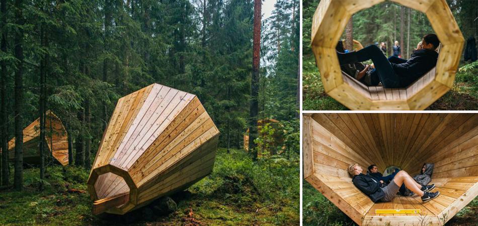 Megafones de madeira gigantes amplificam os sons da natureza no seu estado mais bruto 3