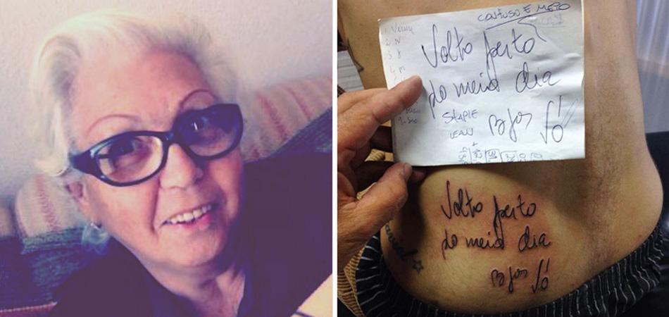 Neto tatua o último bilhete deixado pela avó antes de morrer 3