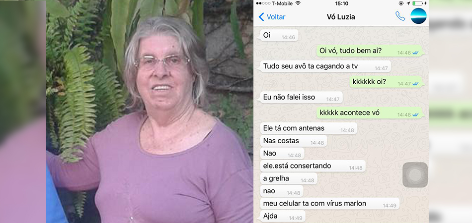 A conversa hilária de um neto com sua vó que usou pela primeira vez o whatsApp 1