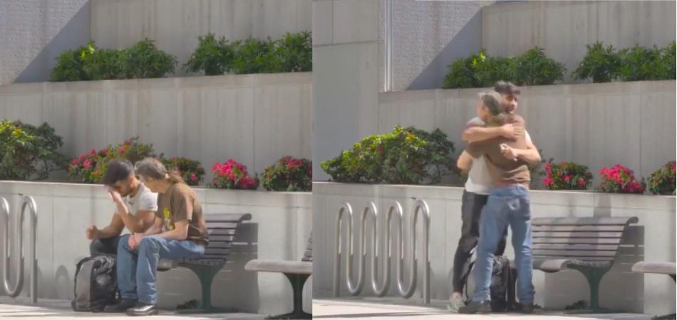 Experimento mostra bondade sem fim de morador de rua com um pai desesperado 5