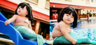 As fotos fofas deste bebê de sereia é tudo o que seu dia precisava
