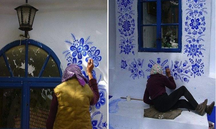 Senhora de 87 anos pinta casas no seu tempo livre para deixar o mundo mais belo 1