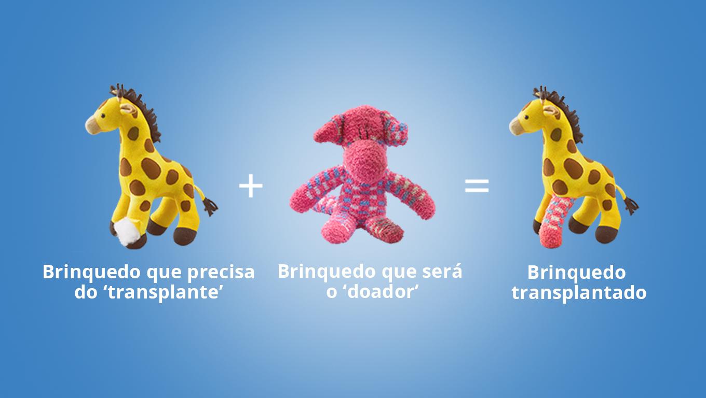 brinquedos que recebem doação de órgãos