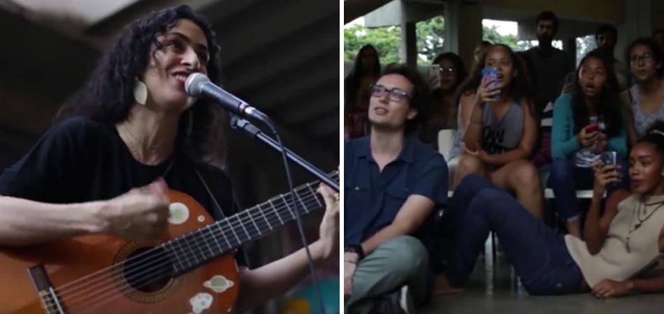 Marisa Monte canta com estudantes que ocupam uma das 65 escolas no Rio 2