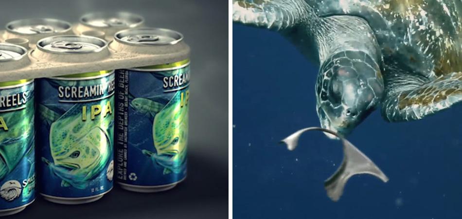 Marca de cerveja cria embalagem comestível para reduzir as mortes na vida marinha 3