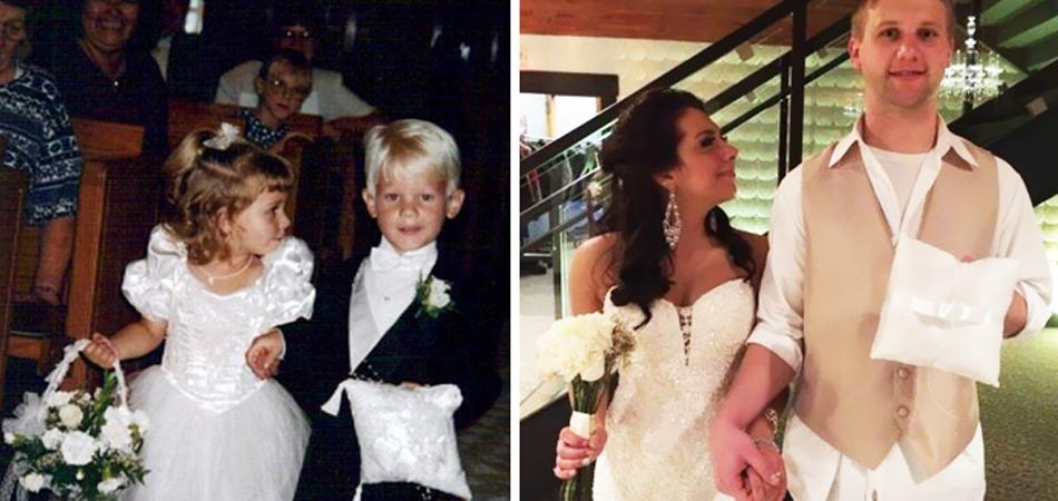 15 casais recriam fotos antigas suas e provam que existe amor para toda vida 5