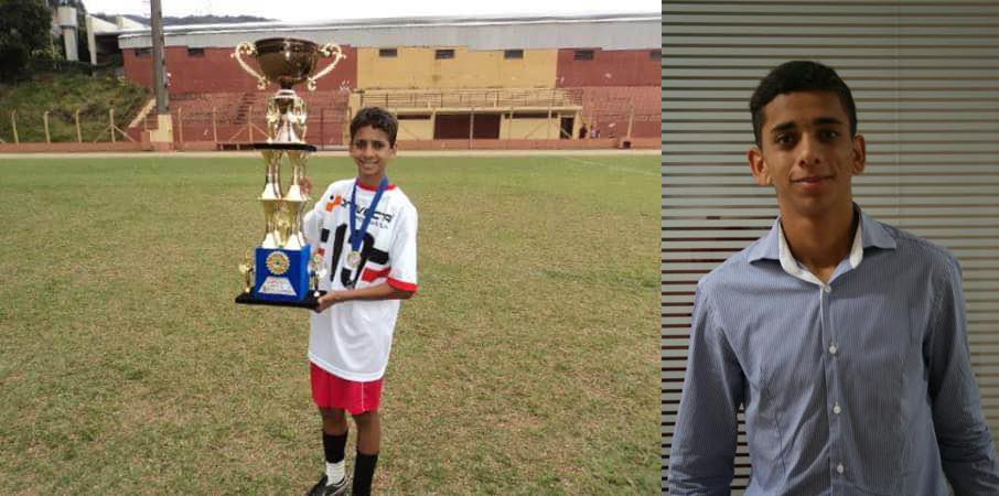 Após interromper a carreira de jogador de futebol, ele encontrou novas oportunidades na educação 4