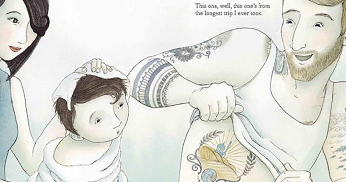 Livro infantil mostra a relação de um pai com seu filho através das histórias de suas tatuagens