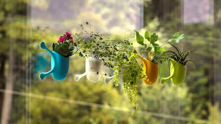 Vaso de plantas com design inovador pode ser fixado em qualquer superfície 1