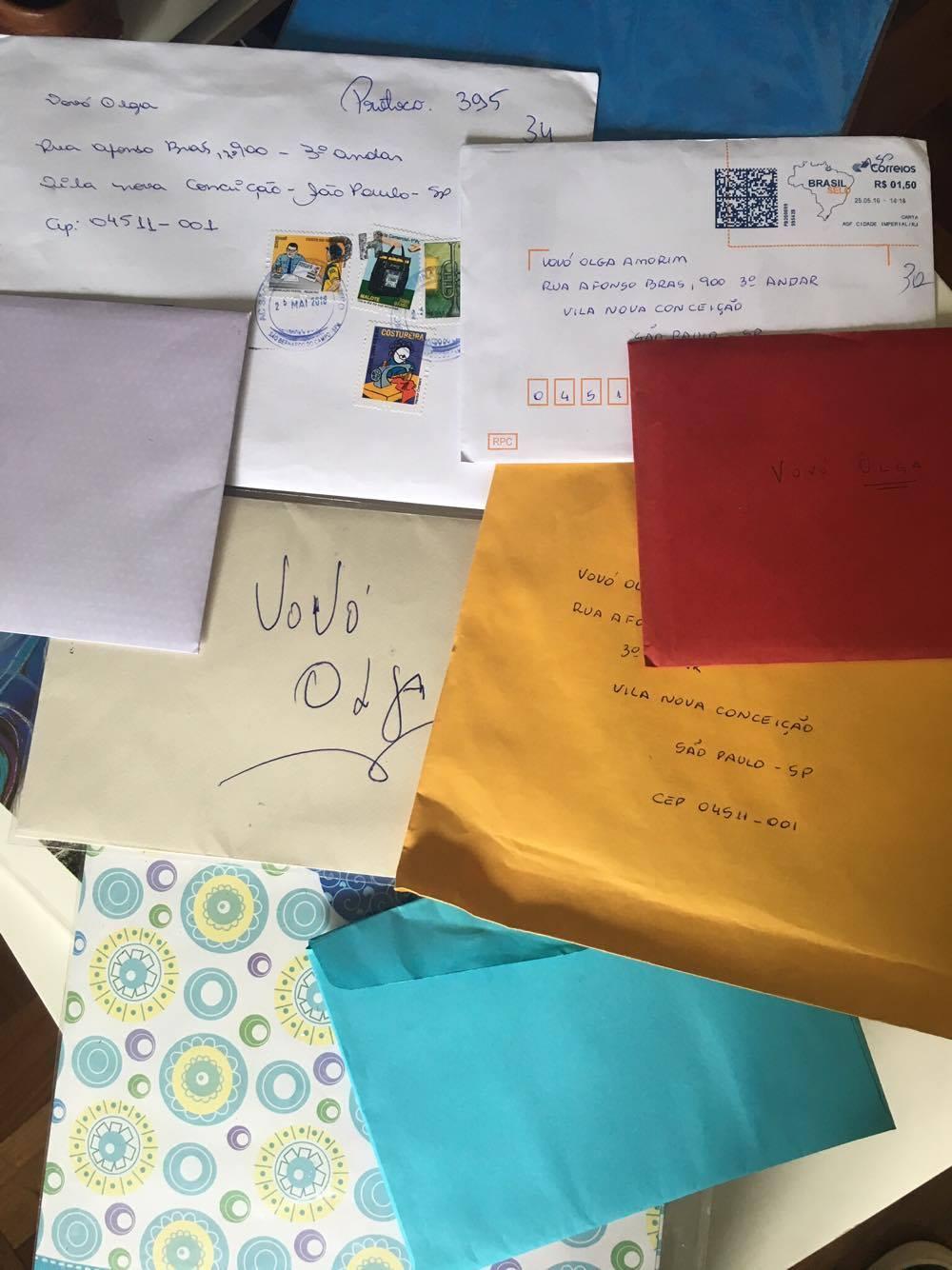 Os primeiros cartões enviados