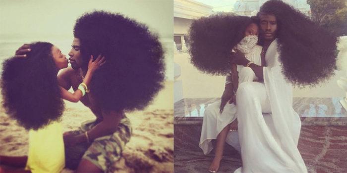 Pai e filha fazem sucesso no Instagram com seus cabelos e penteados afros
