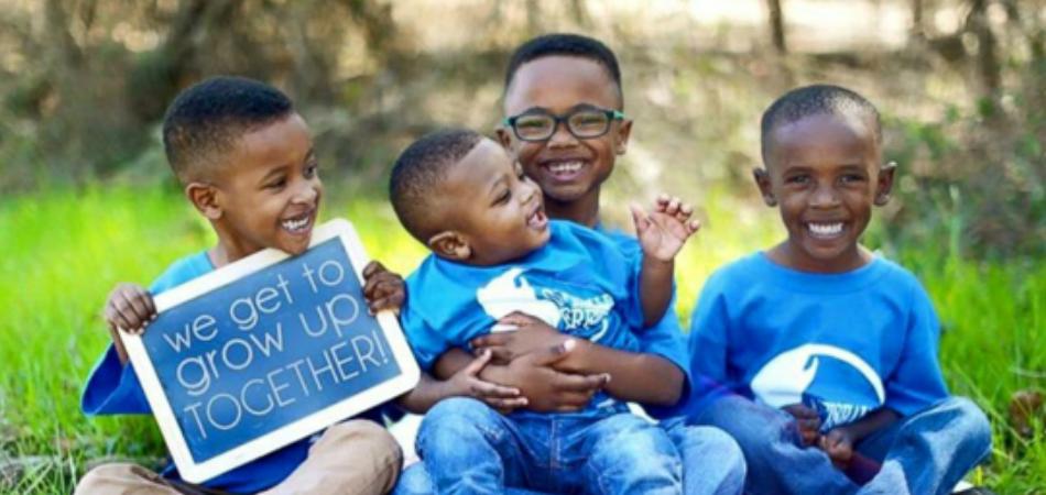Final feliz para 4 irmãos separados ao serem deixados para adoção 2