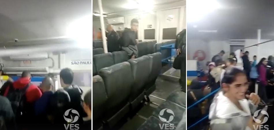 Passageiros achavam que balsa estava afundando e alguém toca a música do Titanic 5
