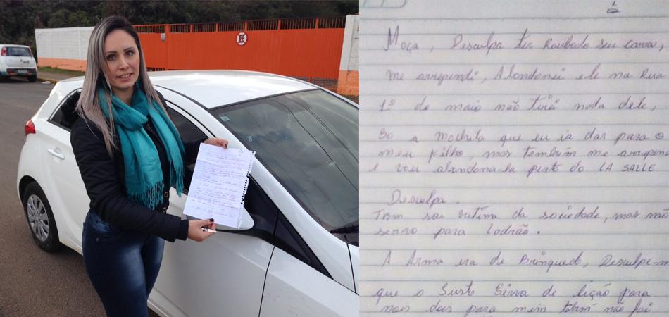 Homem rouba carro, mas se arrepende e o devolve com uma carta de desculpas em Canoas (RS) 1