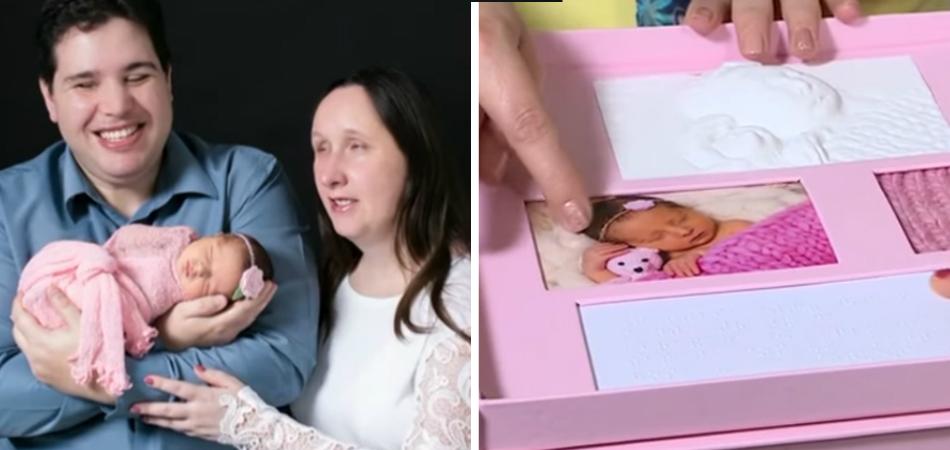 Fotógrafa constrói álbum de bebê sensorial para pais deficientes visuais 1