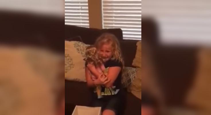 A reação emocionante de um menina que usa prótese ao receber uma boneca igual a ela 5