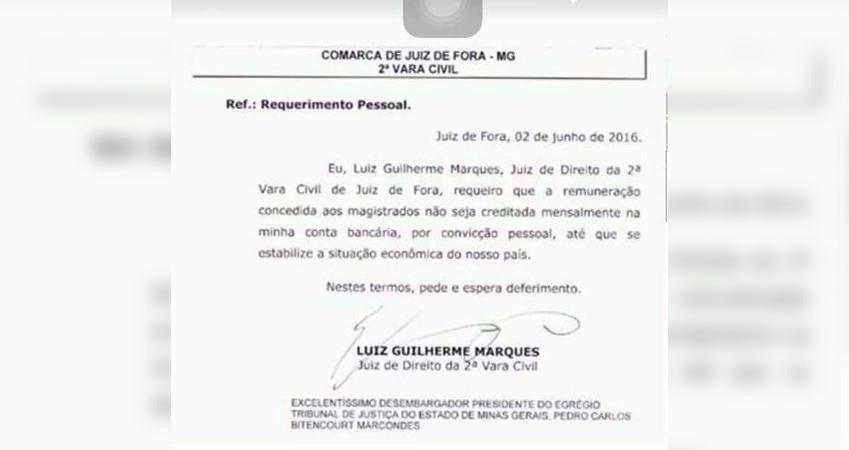 Juiz abre mão de aumento salarial 'até que se estabilize a situação econômica do nosso país' 1