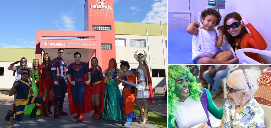 Voluntários se vestem de super-heróis para alegrar os dias em hospitais, asilos e abrigos 1