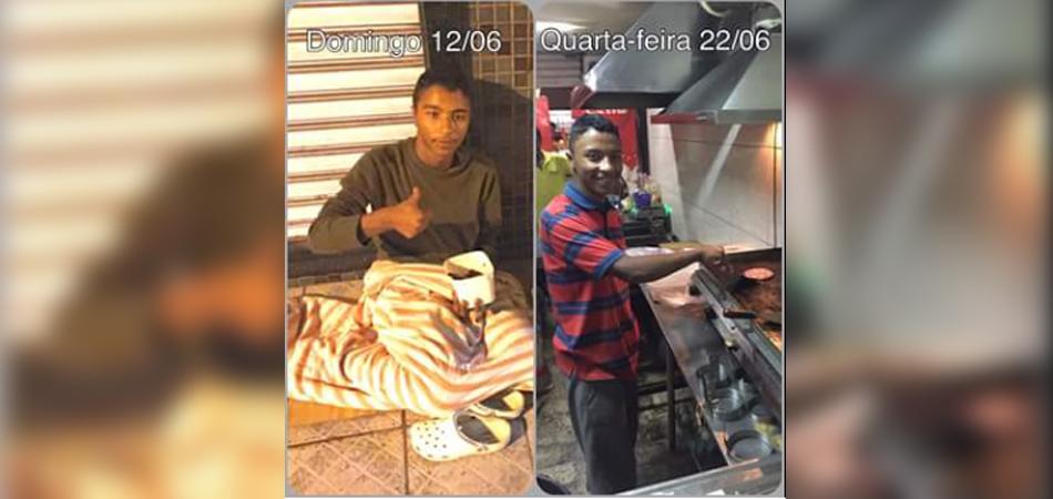Morador de rua consegue emprego graças à ajuda de desconhecidos em Vitória 1