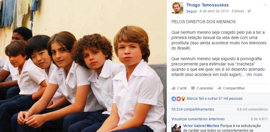 """""""Manifesto"""" pelo fim do machismo na educação dos meninos viraliza na web 1"""