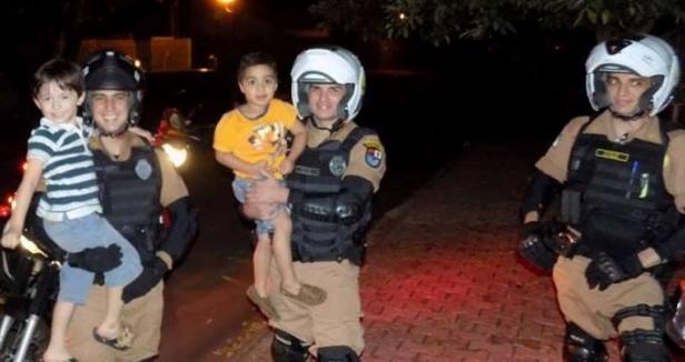 Policiais realizam sonho de menino no dia do seu aniversário 3