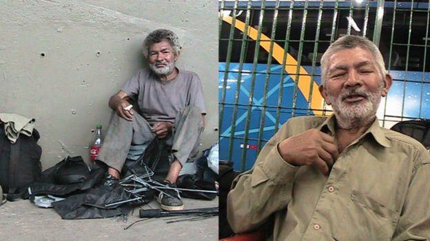 Antonio era morador de rua, encontrou a família com a ajuda de Marcos e voltou para a casa no em Barbosa (SP), onde viveu cinco anos e morreu. Foto: Arquivo Pessoal