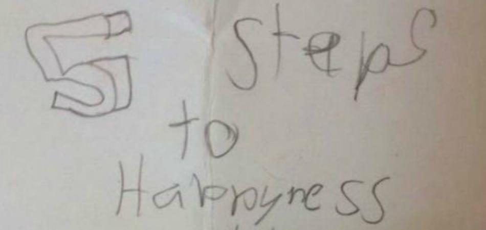 5 passos para a felicidade segundo uma criança de 8 anos 3