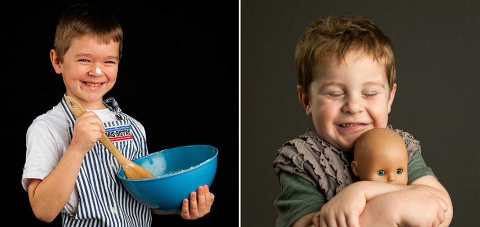 """Fotógrafa cria série para mostrar que meninos também podem fazer coisas """"de menina"""" 1"""