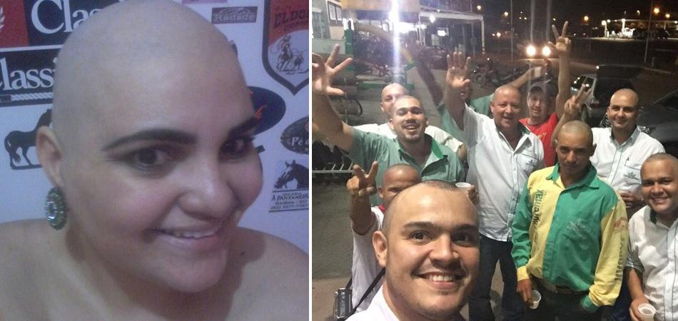 Funcionários raspam cabeça em solidariedade à colega de trabalho que luta contra o câncer 1