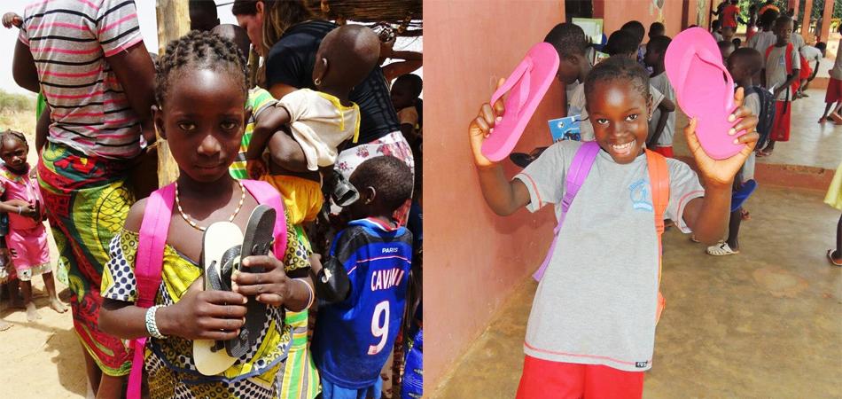 Projeto de brasileiras já doou milhares de chinelos para crianças pobres do mundo inteiro 2