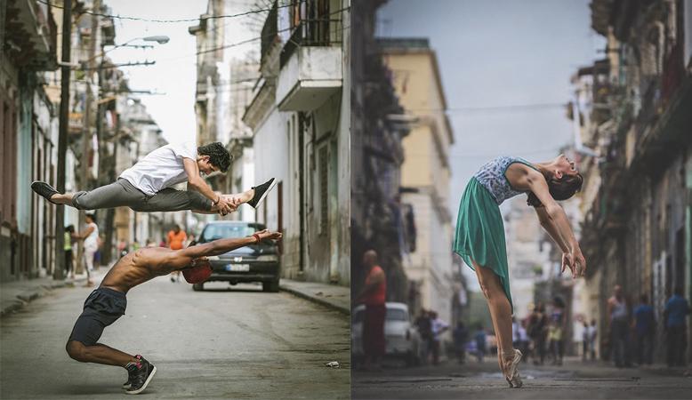 Fotógrafo capta imagens esplêndidas de bailarinos nas ruas de Cuba 1