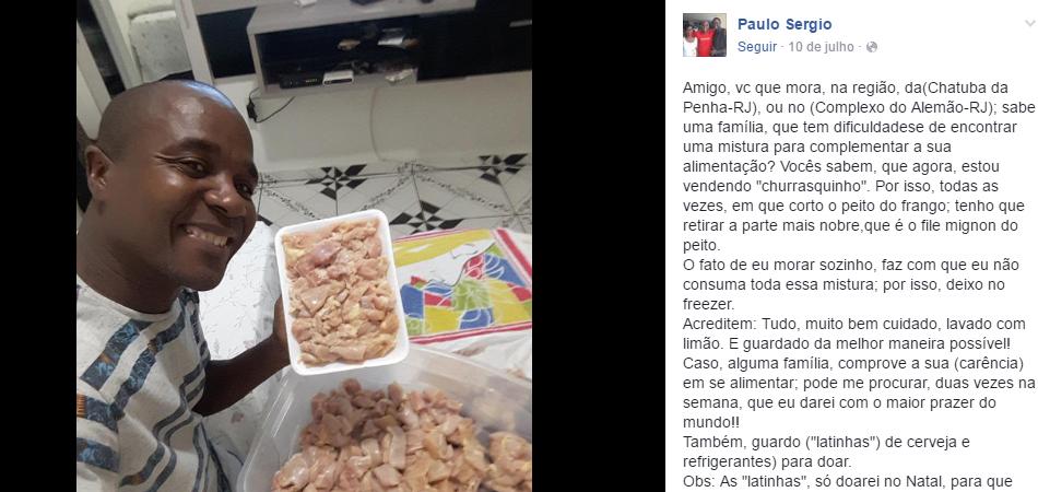 Morador do Rio doará carne que não é usada em churrasco para famílias necessitadas 2