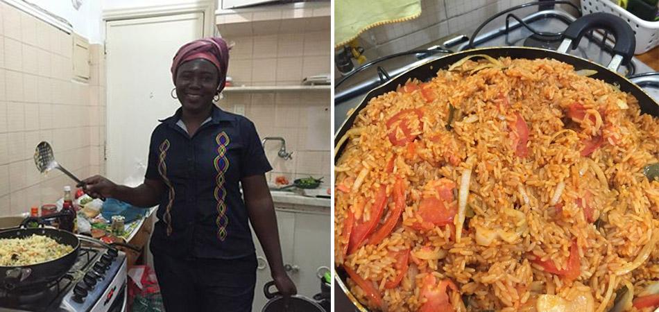 Desconhecidos convidam refugiada para fazer almoço com pratos típicos do seu país 2