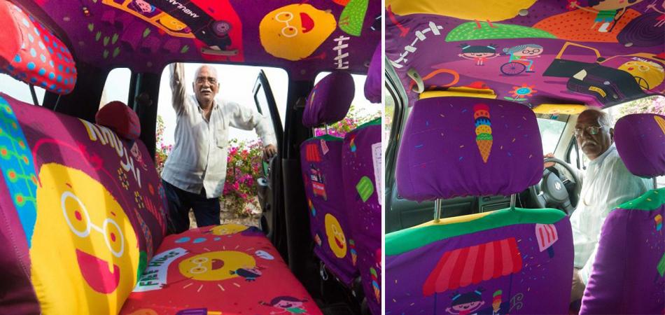 Taxista ganha carro personalizado como agradecimento por ajudar pessoas em emergências 1