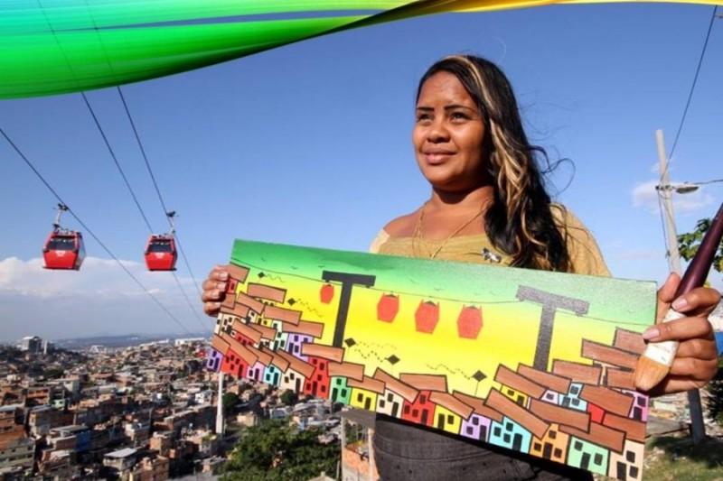 Artistas mirins de favela no Rio de Janeiro pintam telas que estão em 62 países 1