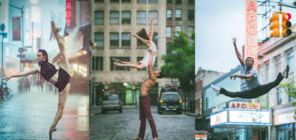Imagens hipnotizantes mostram a leveza de bailarinos em cenários de Nova Iorque 1