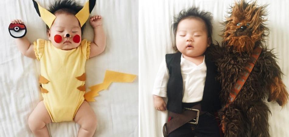 Mãe fotógrafa transforma sua filha nos mais diversos personagens enquanto ela dorme 1