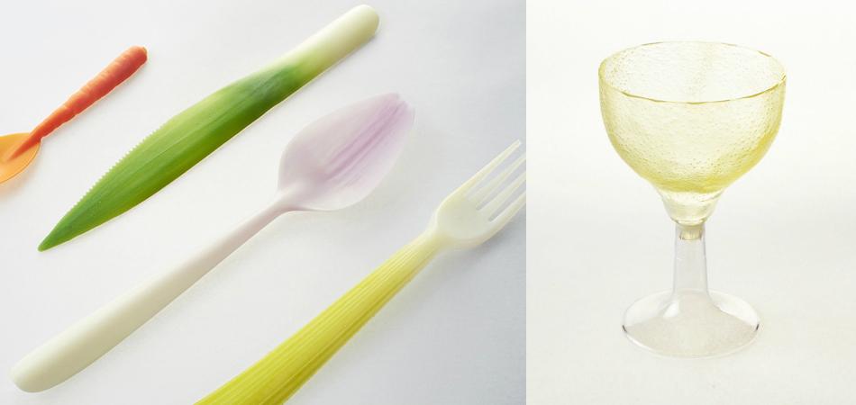 Designer chinesa cria talheres de amido de milho inspirados em plantas 2