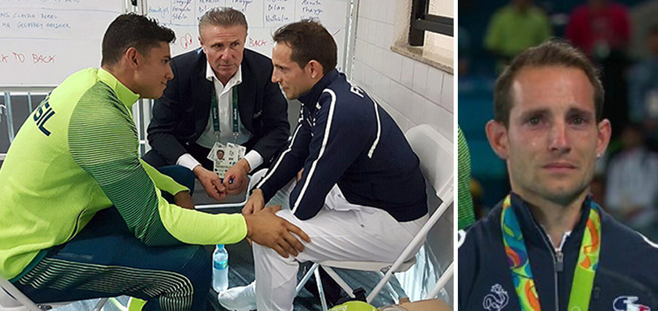 Thiago Braz consola francês que foi vaiado no pódio por torcida brasileira 1