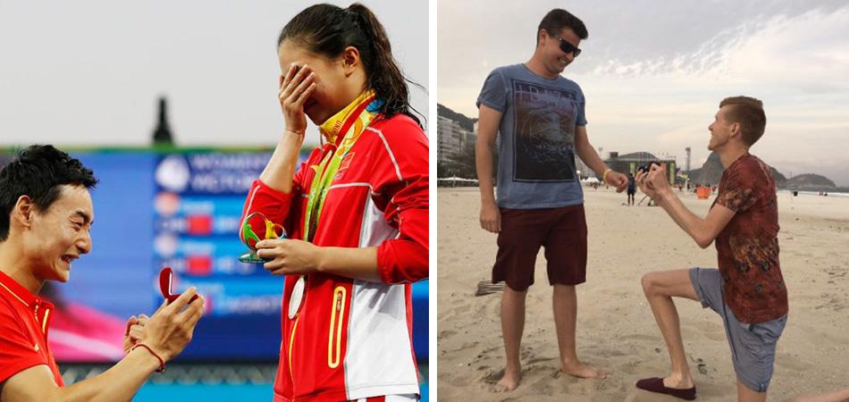 Amor olímpico: mais dois pedidos de casamentos são feitos na Rio 2016 1