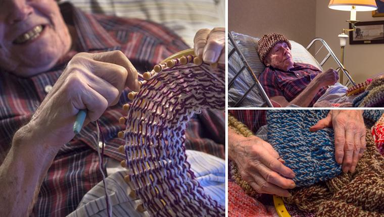 Senhor de 91 anos com câncer já costurou mais de 8 mil gorros para desabrigados 1