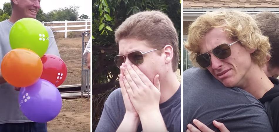 Muita emoção: dois irmãos daltônicos conseguem ver as cores pela primeira vez na vida 1